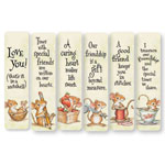 Memos, Notepads & Cards - Friendship Mice Bookmarks - Set Of 12