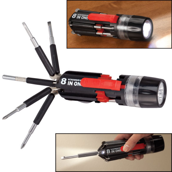8 in 1 Screwdriver Flashlight
