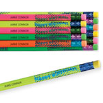 Home Office - Happy Birthday Foil Pencil Assortment Set of 12