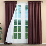 Energy Savers - Cypress 3-Layer Energy Saving Curtains - Set of 2