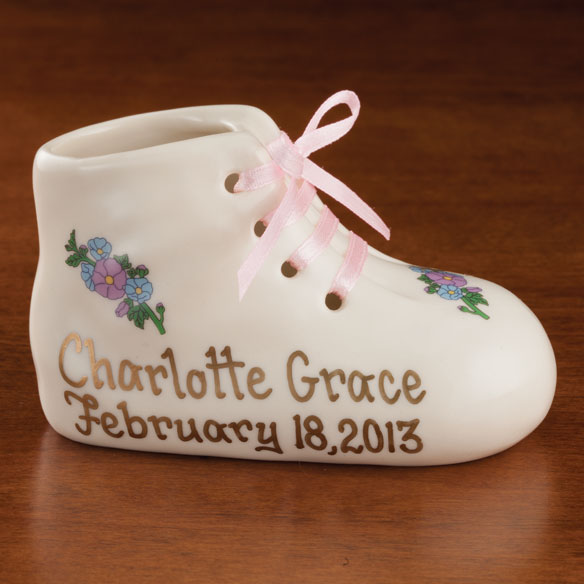 Personalized Deluxe Baby Bootie