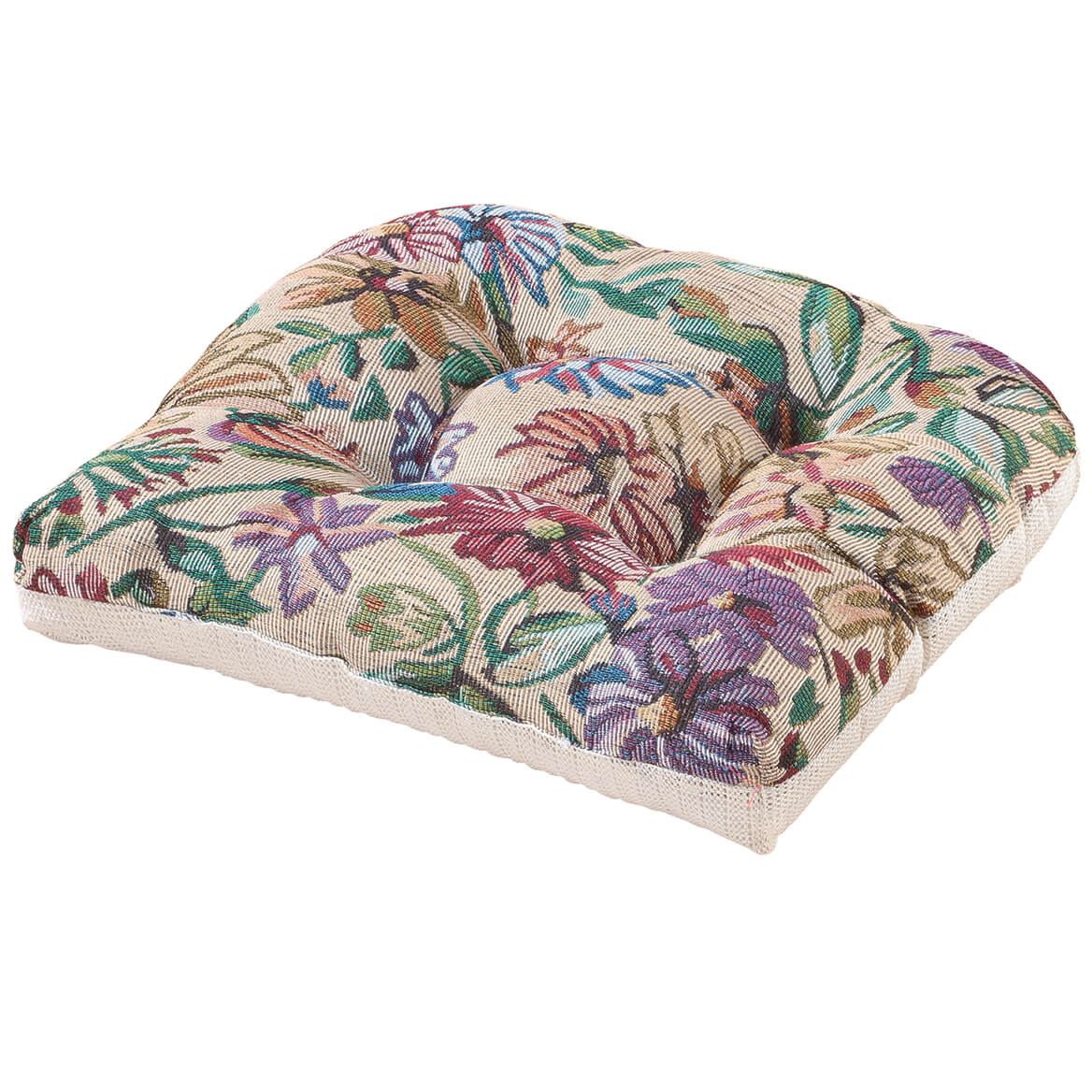 Tapestry Tufted Chair Pad-346493