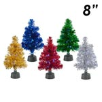 "8"" Fiber Optic Tinsel Tree"