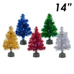 "14"" Fiber Optic Tinsel Tree"