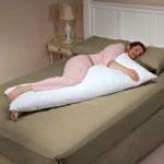 "CoolMax Body Pillow, 54"" x 20"", White"