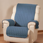 Microfiber Recliner Protector by OakRidge Comforts, Navy Blue