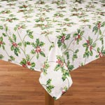 Table Covers - Christmas Holly Tablecloth