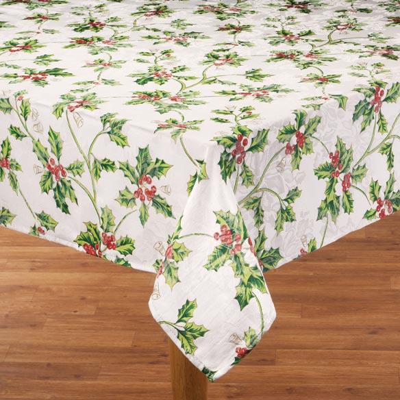 Christmas Holly Tablecloth