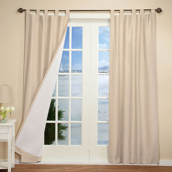 Energy Saving Tab Top Curtains Set Of 2