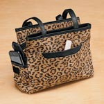 Compare At Deals - Leopard Patch Suede Leather Handbag