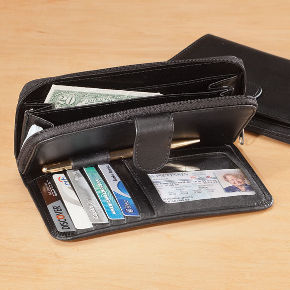 Zip and Snap Wallet  - Black