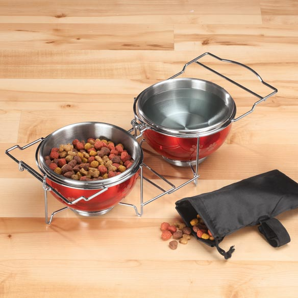 Nifty Pets Steel Collapsible Travel Bowl