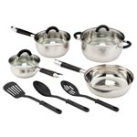 Bakeware & Cookware - Cuisine Select® 10-Pc. Stainless Steel Cookware Set