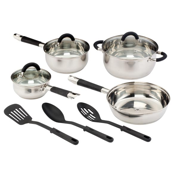 Cuisine Select® 10-Pc. Stainless Steel Cookware Set