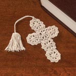 Crocheted Cross Bookmarks Set of 10