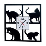 Decorations & Accents - Curious Cat Clock