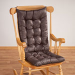 Decorations & Accents - Faux Leather Rocking Chair Cushion Set