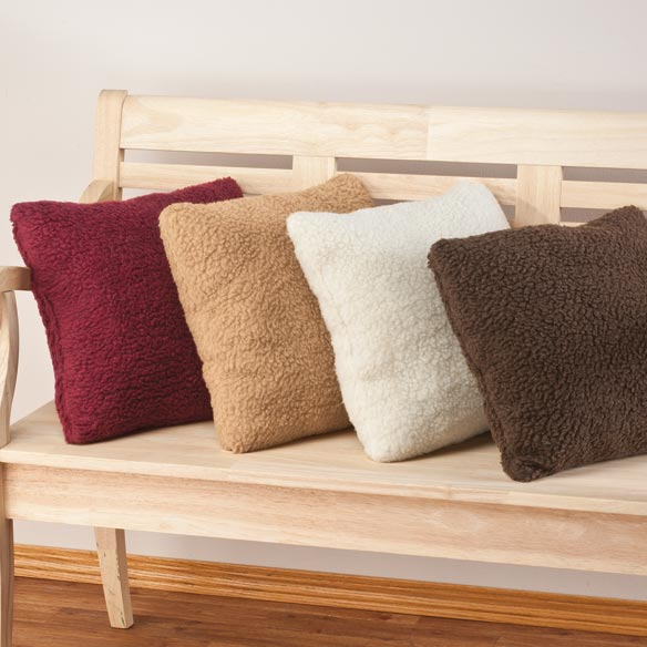 Sherpa Throw Pillow by OakRidge Comforts™