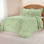 The Caroline Chenille Bedding, Full, White