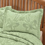 White Sale - The Caroline Chenille Sham by East Wing Comforts