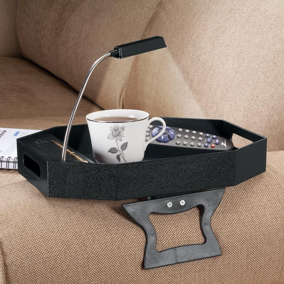 Armrest Table With Light
