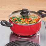 Red Ceramic Dutch Oven - 3 Qt.