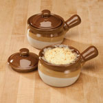 Buy 2 and Save! - Ceramic Soup Crocks With Lids - Set Of 2