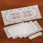 Table Top & Entertaining - 9-Pc. Vinyl Table Runner And Placemat Set