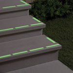 Home Improvement & Cleaning - Glow in the Dark Safety Strips, Set of 12