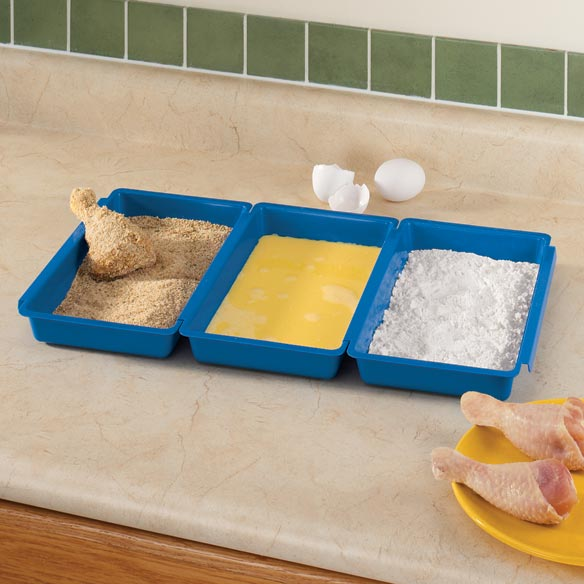 Three Section Breading Tray