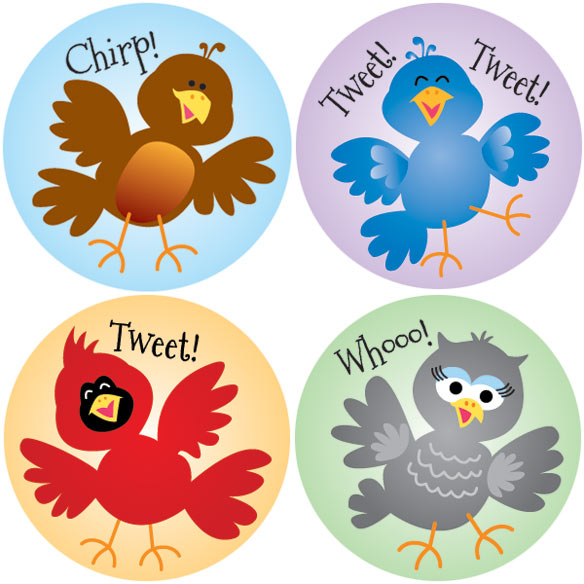 Silly Bird Stickers - Set Of 144