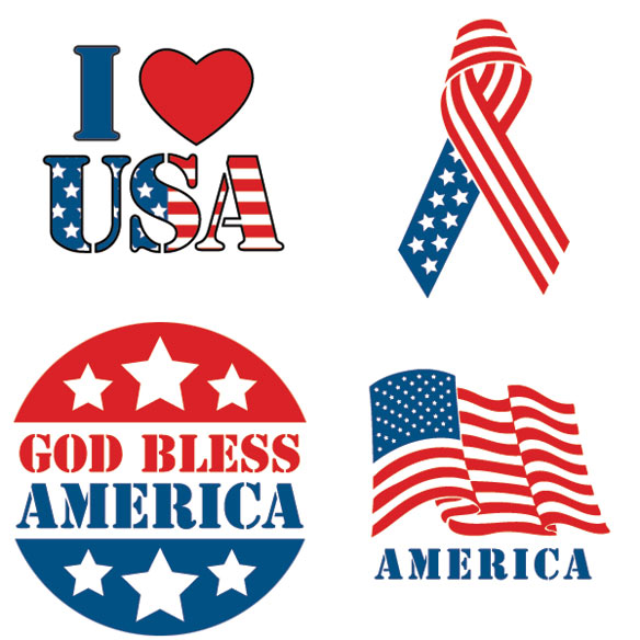 Patriotic Stickers - Set Of 144