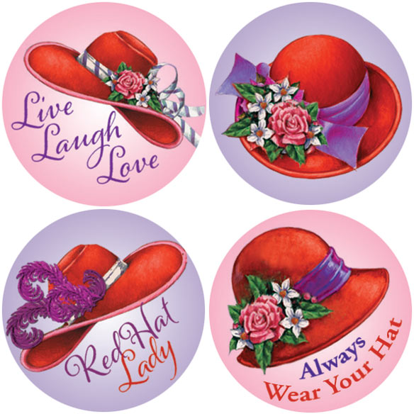 Red Hat Stickers - Set Of 144