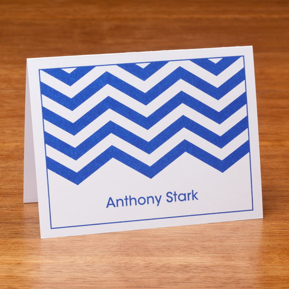 Personalized Note Cards With Chevron Design