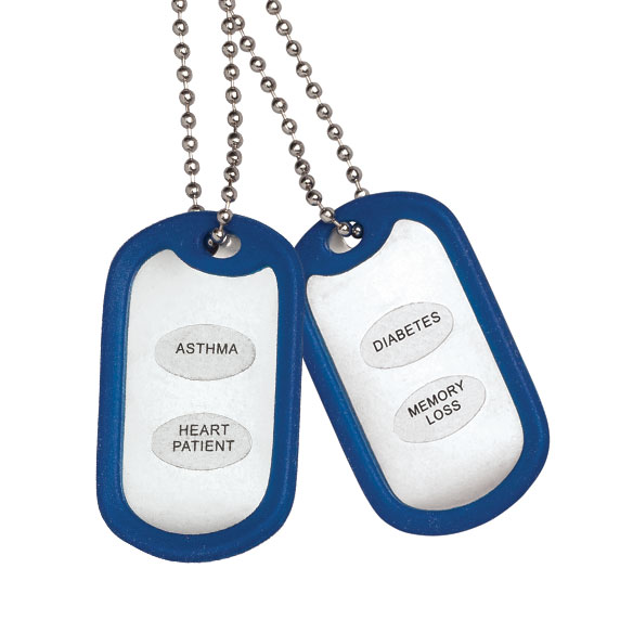 Medical Alert Tags - Set of 2
