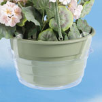 "Lawn & Garden - Hanging Basket Drip Pans, 8""dia. - Set of 3"