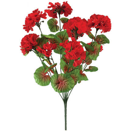 All-Weather Red Geranium Bush by OakRidge™ Outdoor-348129 ...  sc 1 st  Walter Drake & Artificial Flowers - Planters - Cemetery Vases - Walter Drake