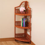 Storage & Organizers - Wicker 3 Tier Corner Storage Shelf             XL