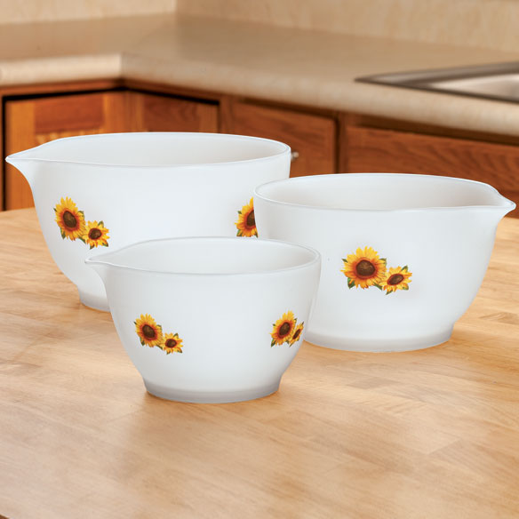 Sunflower Mixing Bowls - Set of 3