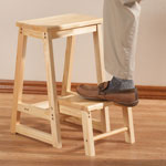 Storage & Organizers - 2 In 1 Stool With Foldout Step