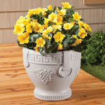 Decorative - Grape Pattern Urn Planter