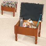 Accent Furniture - Tapestry Storage Ottoman