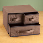 Closeout Deals - 3 Drawer Household Organizer, Set of 2