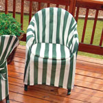 Outdoor Furniture Covers - Striped Patio Chair Cover with Cushion