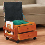 Accent Furniture - Multi Storage Rolling Ottoman
