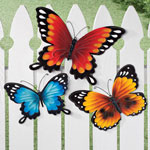 Decorative - Metal Butterflies, Set of 3