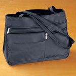 Handbags & Wallets - Six Pocket Navy Handbag