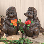 Lawn & Garden - Hedgehog Garden Figurines Set of 2