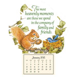 Calendars - Mini Magnetic Calendar Heavenly Friends