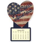 Calendars - Mini God bless America Magnetic Calendar